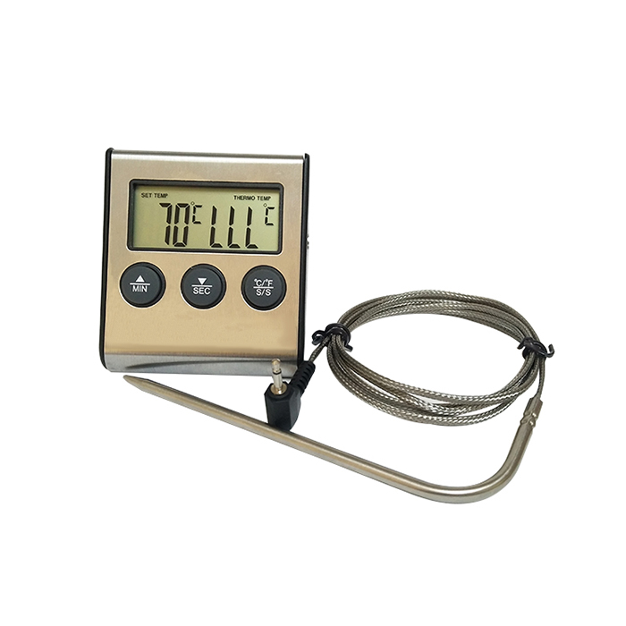 Digital Cooking Thermometer Timer With Alarm