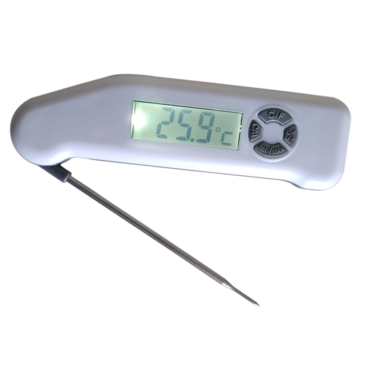 Recalibratable Waterproof Digital Folding Thermometer