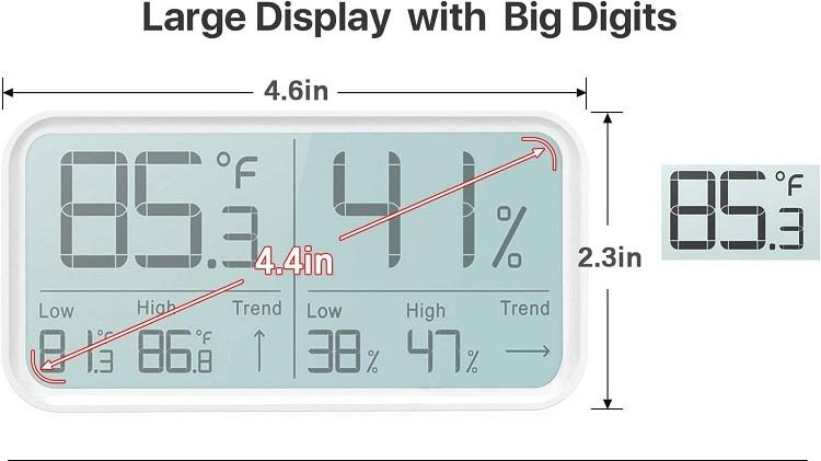 Homeking Thermom/ètre num/érique /à affichage LCD pour r/éfrig/érateur aquarium